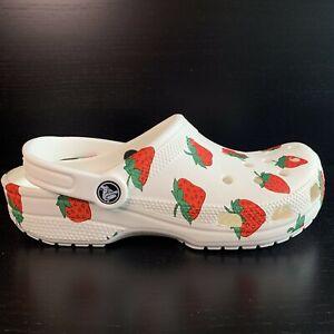 Crocs Vacay Vibes White Clog Strawberry Rare Limited Women's Size 8 New Fashion