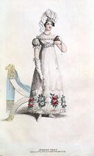 Robe de soirée, la belle assembler, fashion plaque 221 ANTIQUE PRINT 1819