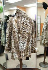 MINT CANADIAN SPOTTED FUR JACKET COAT W/ MATCHING SCARF WOMEN WOMAN SIZE 12 MED