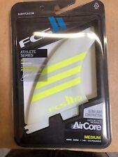 New Fcs Julian Wilson AirCore Tri Surfboard Fins Acid/White, Medium