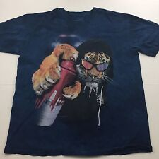 The Mountain Tiger Cat Spray Paint Graffiti Manimal XL Black Graphic T-Shirt