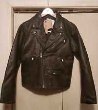 Levi's Leather Jacket - Moto Motorcyle style - Black - Size S - NWT