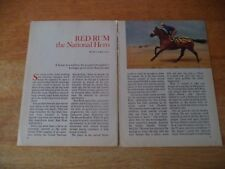 Red Rum National Hero Vintage Magazin Article 8 1 A P