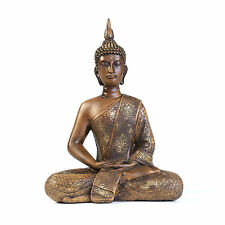 Thai Sitting Buddha Statue Meditating Figurine Sculpture Home Decor Oriental