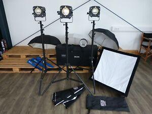Hedler Studioblitzanlage 3x F500 inkl. umfangreichem Zubehör