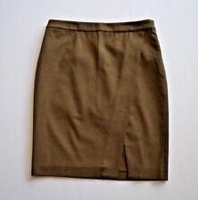 Ralph Lauren Wool Blend Pencil Skirt Knee Calf Length Chocolate Brown W30 - L22