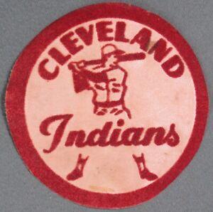 Cleveland Indians Vintage Felt Baseball Patch 1950's RARE Collector's Item