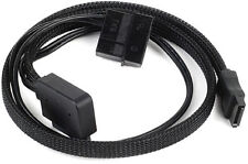 Silverstone CP10 Slim-SATA to desktop  SATA Adapter All Black Sleeved Cable