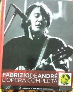 FABRIZIO DE ANDRE' - L' OPERA COMPLETA N 14 - CD + DVD + LIBRO - NUOVO SIGILLATO