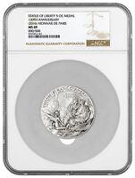 2016 France 5 oz Silver Statue Liberty 150th Commem Medal NGC MS69 SKU45153