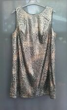 ladies next bn dress size 14 snake print brown sequins short dress