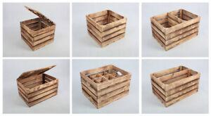 Holzkiste Geflammte Apfelkisten Obstkisten Holz Truhe Betttablett Flaschenträger