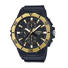Casio MRW-400H-9AVDF Analog Black/Gold Yellow Resin Strap Watch for Men