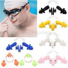 Waterproof Silicone Swimming Set Nose Clip + Ear Plug Earplug Tool Practical