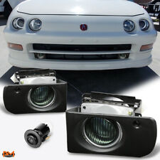 For 94-97 Acura Integra DC/DC2 JDM Race Smoked Lens Fog Light/Lamp W/Switch+Wire