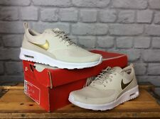 NIKE AIR MAX LADIES UK 6.5 EU 40.5 BROWN GOLD SAND THEA TRAINERS RRP £95
