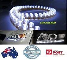 2x 24cm 24 LED Car Headlight Daytime Running Light DRL Strip Flexible Lamp Bulb