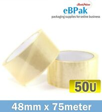 36 Packing Tape 48mm X 75meter Clear Sticky 45u Tapes Postal
