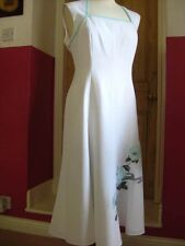 JACQUES VERT white mint green special occasion DRESS size UK 16 14 evening