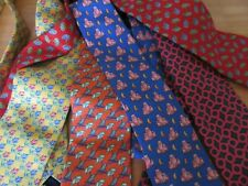 Lot of 5 x Thomas Pink 100% Silk Ties