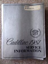 1981 CADILLAC FACTORY SERVICE MANUAL SHOP REPAIR BOOK, GENUINE, ORIGINAL
