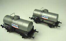 LS modello 30445 Set 2x SNCF 2 assi Vagone cisterna ocem19 MOBIL ARGENTO EP3