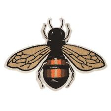 Fly / Bee Chenille M (Sew on) Embroidery Applique Patch Sew Iron Badge