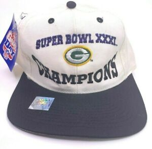 NEW Vintage Green Bay Packers Snapback Logo Athletic SUPER BOWL XXXI Mens