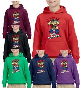 Jeffy Puppet The Rapper Kids Hoodie Youtuber Boy Girl Children Cartoon