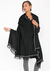 Merino Wool Shawl Large Luxury Oversize Scarf Wrap 100 x 200cm