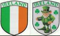 Jeu de 2 Irlande Irlandais Forme Bouclier Interne Autocollant Fenêtre Voiture