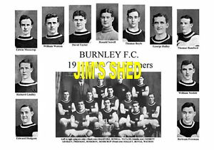 BURNLEY F.C. 1914 F.A. Cup Winners FA Memorabilia Print