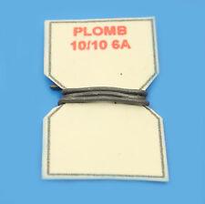 10 cm DE FIL DE PLOMB FUSIBLE 10/10° 6A POUR PORTE-FUSIBLE PORCELAINE VINTAGE