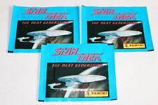 Panini Star Trek Le Next Génération (1987) 3 X Sac en Papier Paquet Bustina Rare