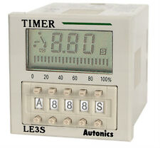 Industrial Digital Timer Autonics LE3S 10kind OP mode(ON,OFF,INTERVAL,FLIKER,,)