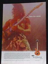 2002 Eddie Van Halen plays an EVH Wolfgang guitar by Peavey photo print Ad