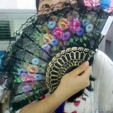 New Spanish Style Flora / Oriental  Folding Hand Fan Wedding Party Flower