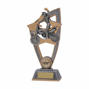 Motorcross Gold Resin Trophy 2 sizes With Free Engraving up to 45 Letters