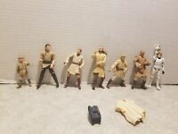 Vintage Star Wars LFL Action Figure Lot of 7 1997-2005  with accessories