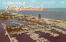 ITS GREAT TO BE IN FORT LAUDERDALE 1963 air view showing Bahia Mar Yacht Basin