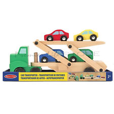 Melissa & Doug Car Transporter Loader Toy Early Learning Preschool Child Wooden