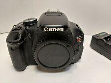 Canon EOS Rebel T3i Digital SLR Camera Body Only (Black) 18MP Tested Works