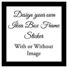 Vinyl Sticker 20x20cm DIY Box Frame Personalised DESIGN YOUR OWN gift Money Box