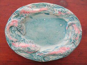 Rare Una Deerbon Fish Platter / Plate Australian Pottery