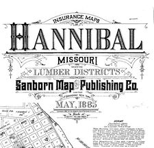 Hannibal, Missouri~Sanborn Map©~sheets made in 1885 from microfilm reel