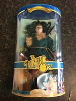 WIZARD OF OZ ~ SCARECROW PORCELAIN DOLL ~14-Inch Brass Key Keepsakes 2005~NEW