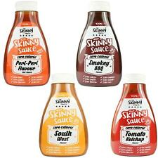 Skinny Food Co Zero Calorie BBQ Sauces Multi Pack Peri Peri Ketchup South West