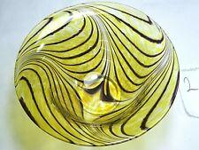 More details for signed heta laga sweden jens eltorp glass bowl 1989  tiger stripes