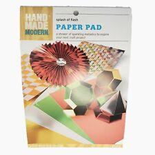 "Hand Made Modern Splash Of Flash Metallic Paper Pad 8.5""×12"" 12 sheets red green"