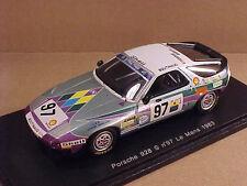 Spark 1/43 Resin Porsche 928 S, 1983 LeMans, Boutinaud Team - Gotti, #97  #S3407